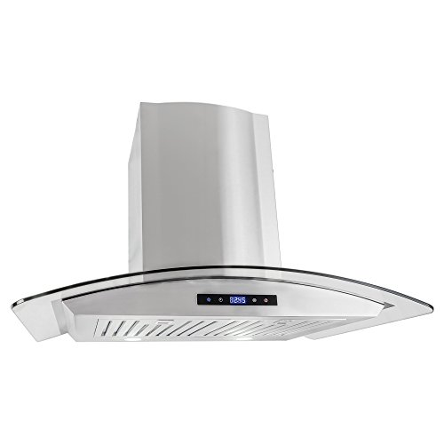 Cosmo 668AS750 30 in. Wall Mount Range Hood with Tempered Glass Visor, Soft Touch Controls, LED Lighting and Permanent Filters (Wall Mount Hood Vent)