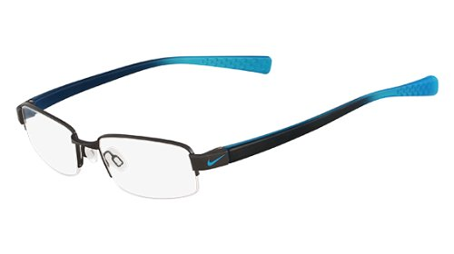 NIKE Eyeglasses 8090 923 Shiny Gunmetal Blue 53MM by NIKE