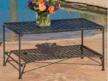 Contemporary - Iron, Rectangular, Black (Cast Iron Rectangular Table)
