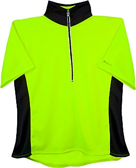 AERO|TECH|DESIGNS Plus Women's Gail Loose Fit Cycling Jersey Neon Yellow 2XL
