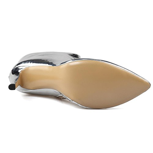 para Botas banquetes de Talla tacón alto botas Cuero 8002FD 41 de invierno Zapatos de salones impermeable A 44 Lady grande A otoño qAwvpyII