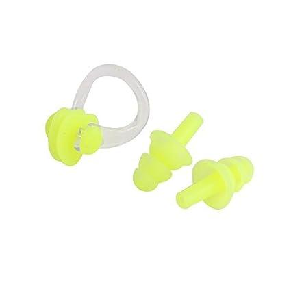 eDealMax agua de Saltos Deporte de silicona tapones Para Los oídos Clip de la nariz Piscina