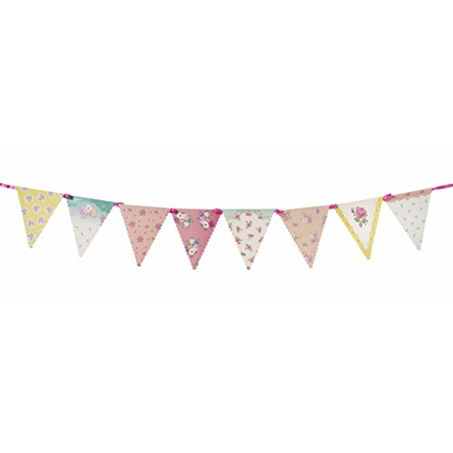 Talking Tables Tea Party Decorations Floral Banner Bunting | Truly Scrumptious | Also Great For Birthday Party, Baby Shower, Wedding And Anniversary | Paper, - Tea Table Party Decorations