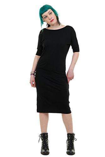 mujer Made vestidos Black Berlin In de Batwing verano para Elwing 3 Vestido taxq8SC