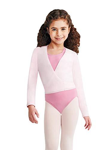 Capezio Big Girls' Classics Wrap Top, Pink, Large