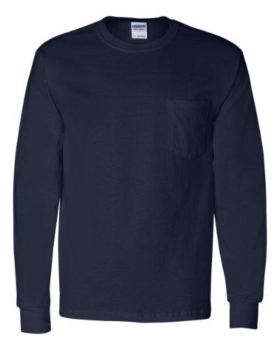 (Gildan - Ultra Cotton Long Sleeve T-Shirt with a Pocket - 2410)