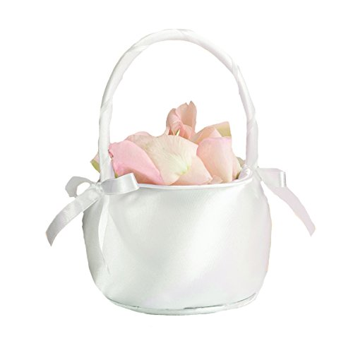 Lillian Rose Simple Elegant Off White Satin Flower Girl (Elegant Baskets)