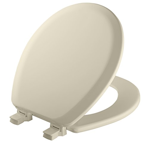 Mayfair Molded Wood Toilet Seat with Easy Clean & Change Hinges and STA-TITE Seat Fastening System, Round, Biscuit/Linen, 41EC (Toilet Bowl Biscuit)