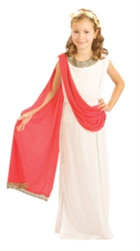Childrens Girls Aphrodite Costume for Greek Roman Goddess Fancy Dress Height:120-130cm MEDIUM by Partypackage (Aphrodite Costume Child)