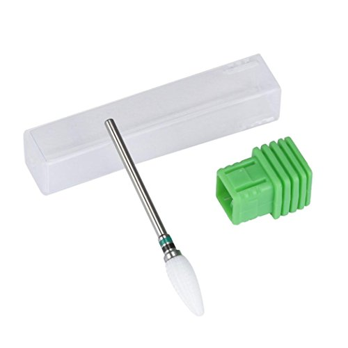 Ceramic Nail Drill Bit Tool Smooth Top Rotary File Manicure Pedicure ()