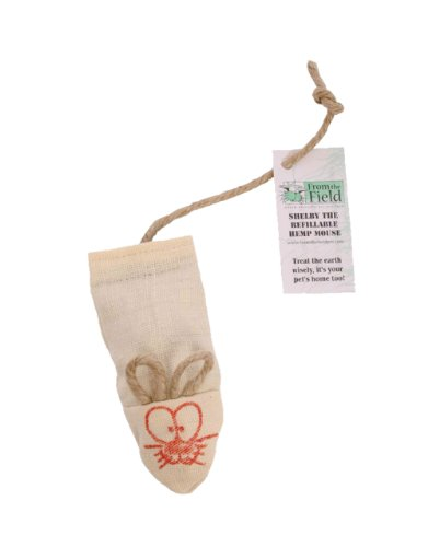 From The Field FFT104 Shelby The Refillable Hemp Mouse Catnip Toy, My Pet Supplies
