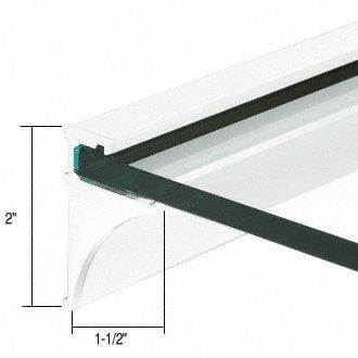 CRL 36'' White Aluminum Shelving Extrusion for 1/4'' Glass