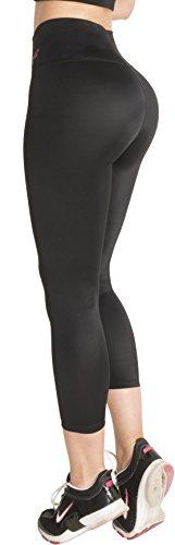 226f21e97f Fiorella Shapewear Butt Lifter Leggings High Waist Capris Powernet Levanta  Cola Colombianos 401BB Black Large