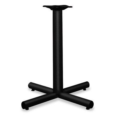 - Single Column Steel Base, 26w x 26d x 27-7/8h, Black, Sold as 1 Each