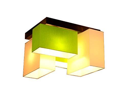 Plafoniere Da Soffitto Verde : Lampada da soffitto plafoniera milano b2 2 mix a 4 luci diverse