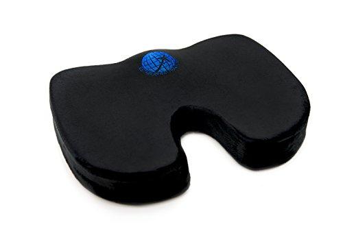 - Established Traveler Best Coccyx Orthopedic Comfort Memory Foam Cushion (Black) - For Back and Leg Pain