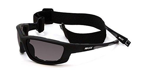 MaxxHD Sun Glasses 2017 Maxx Sunglasses TR90 Maxx 6 Black w/Gray Polarized Smoke Lens