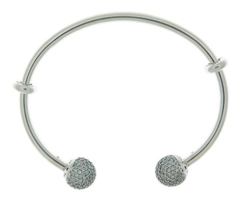 Pandora Open Bangle Bracelet  Clear Cz 596438Cz 3 19 Cm 7 5 In