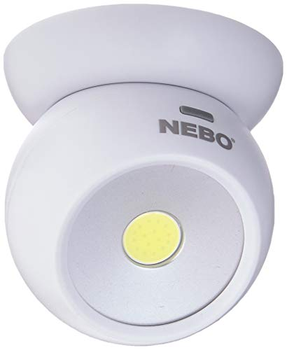 Nebo Tools 6690 Eye 220 Lumen 360 Degree Directional Area Light Magnetic Base with 3 Ways to Mount Pack of 2, 2 Count