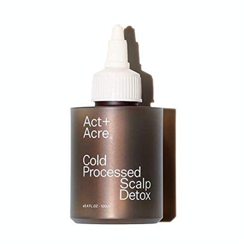 Act+Acre- Cold Processed Scalp Detox removes product build-up and delivers nutrients to the hair follicle. 3.4 FL oz