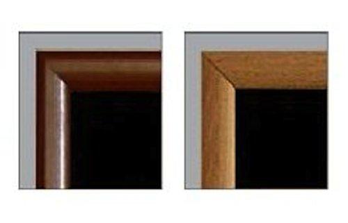48'' x 24'' Framed Magnetic Black Board / Chalk Board (dark brown veneer wood frame)