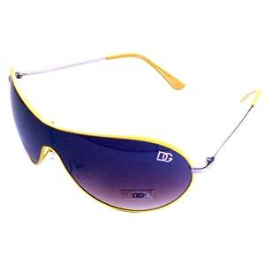 DG Eyewear Women's Aviator Sunglasses (Yellow)