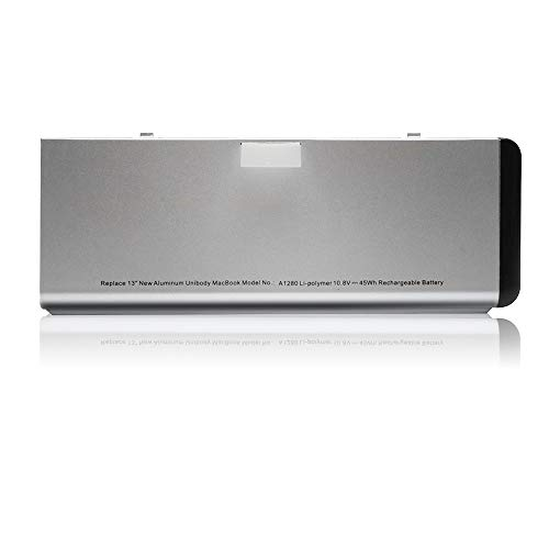 A1280 A1278 Battery Replacement New Laptop Battery for Apple MacBook Pro 13 inch (only for 2008 Version),Compabiel for MB771G/A MB467LL/A MB466LL/A - [Li-ion 10.8V/45Wh 6 Cell]
