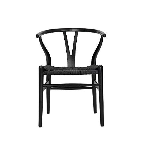 Amazon.com: Wishbone - Silla y sillas de comedor de madera ...