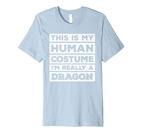 Fire Breathing Dragon T-shirt (Human Costume Dragon Fire Breathing Beast Wings T-Shirt)