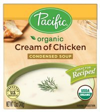 Pacific Foods Organic Cream Of Chicken Condensed Soup, 12-Ounce Carton, 12-Pack