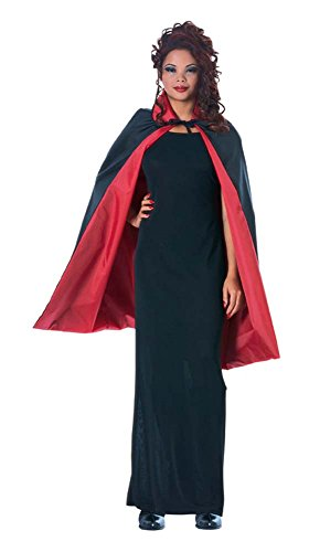 Rubie's Costume Men's Reversible 36-Inch Taffeta Cape, Black/Red, One (Cape Taffeta Costumes)