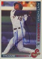 Anthony Sanders Syracuse Skychiefs - Blue Jays Affiliate 1998 Grandstand Autographed Card - Minor League Card. This item comes with a certificate of authenticity from Autograph-Sports. Autographed