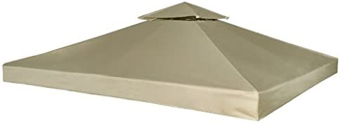 Toldo de Cenador de Repuesto Tela Impermeableo 310 g//m/² 3x3m para Carpa Pabellon Toldo Eventos y Bodas
