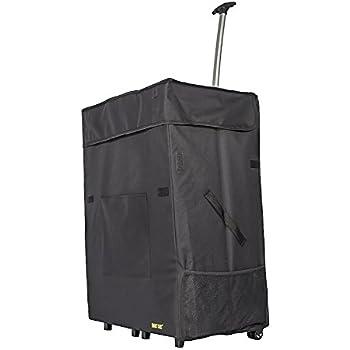 Jumbo Smart Cart, Black Rolling Multipurpose Collapsible Basket Cart Scrapbooking Laundry