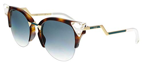 (Fendi 0041S VIO Havana/Gold Iridia Cats Eyes Sunglasses Lens Category 2 Lens)
