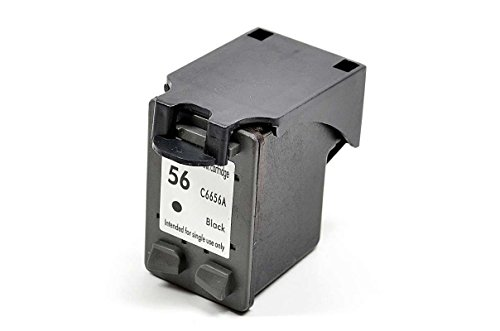 InkClub C6656A, #56 Black Ink Cartridge Remanufactured in North America, Replacement For # 56, Compatible With DeskJet 5550 5650 5850 9650 9670 9680 OfficeJet 4215 5505 5510 5600 6105 6110 Printers