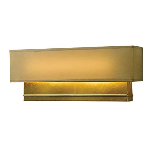 - Hubbardton Forge 207630D-05-883 Crease Led Sconce, Natural Anna, Bronze