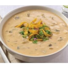 Reserve Roasted Poblano and White Cheddar Soup with Tomatillos, 4 Pound -- 4 per case.