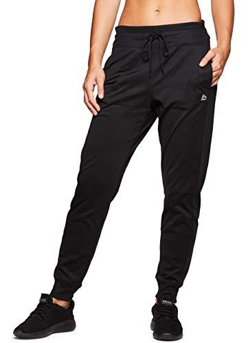 RBX Active Women's Fleece Cuffed Jogger Sweatpants Black M (Rbx Active Womens Fleece Cuffed Jogger Sweatpants)