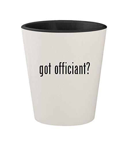got officiant? - Ceramic White Outer & Black Inner 1.5oz Shot Glass