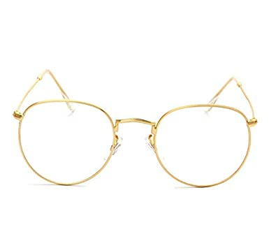 c8ac572a9 Fashion Gold Metal Frame Eyeglasses Vintage Glasses Clear Lens ...