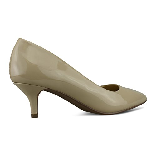 Premier Pat Beige Dress Women's Dk New Classic Heel Versatile Shoes Elegant Pumps Standard Stiletto Low Platform ZZSrg