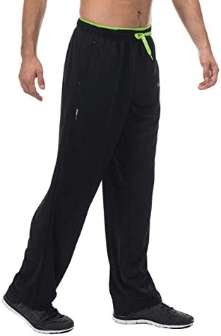 cenfor Men's Sweatpant with Pockets Open Bottom Athletic Pants for Jogging, Workout, Gym, Running, Hiking, Training(Black, L): Buy Online at Best Price in UAE - Amazon.ae