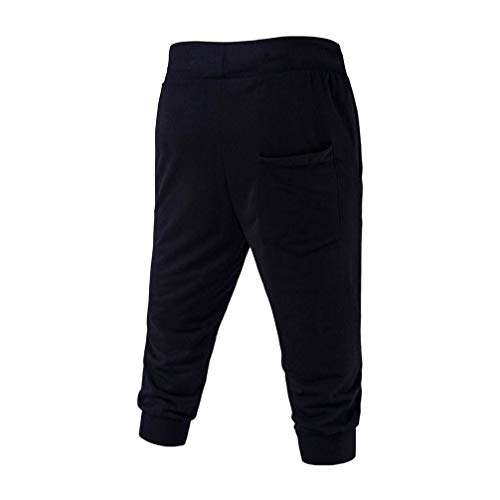 Deportivos Largo La Moda Jogging Hasta Casual Hombre Vintage Y Impresión Pantorrilla Black4 Pantalones Para Cordón De Con dOwTgP