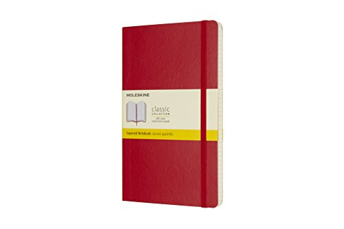 Moleskine Classic Notebook Large Squared Scarlet Red Softcover (8055002854641)