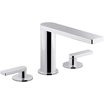 KOHLER K-942-4-CP Stillness Widespread Lavatory Faucet, Polished ...