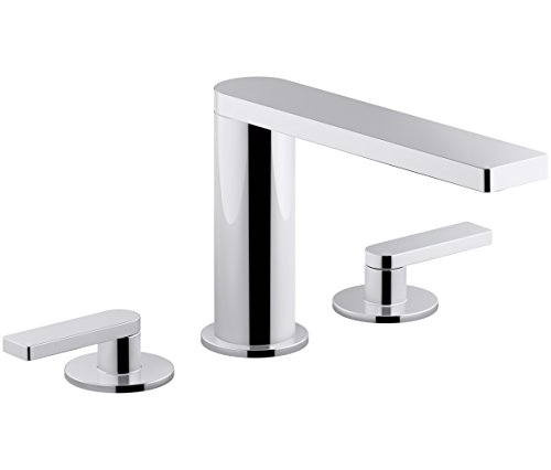 KOHLER K-73060-4-CP Composed Widespread Bathroom Sink Faucet with Lever Handles, Polished Chrome by Kohler