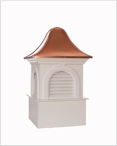 Ridgefield Vinyl Cupola with Copper Roof 60'' x 98'' by Good Directions