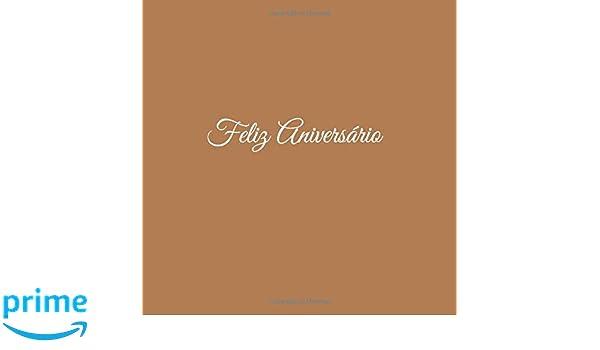 Libro De Visitas Feliz Aniversário para Aniversário de Bodas decoracion accesorios ideas regalos eventos firmas fiesta ... 21 x 21 cm Cubierta Marron ...