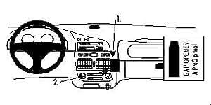Brodit ProClip - Kit de coche para Fiat Palio 98-02  (para Europa, ángulo de montaje)
